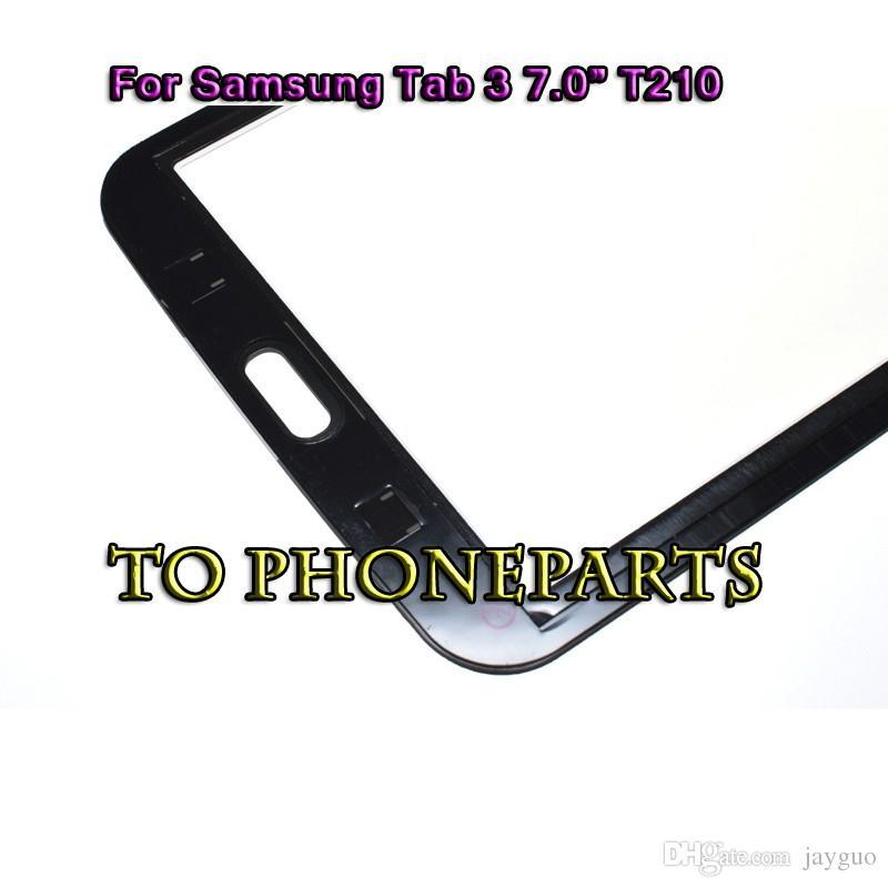 Touch Screen Digitizer Glass Panel Samsung Galaxy Tab 3 7.0 T210 T211 bianco nero parti di ricambio la riparazione