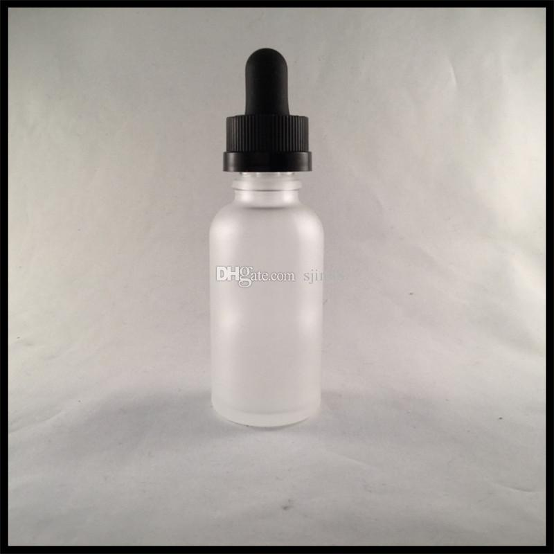 30ml Frosted Glass Bottles For E Liquid With Childproof Cap And Glass Tube Dropper Essential Oil Bottles
