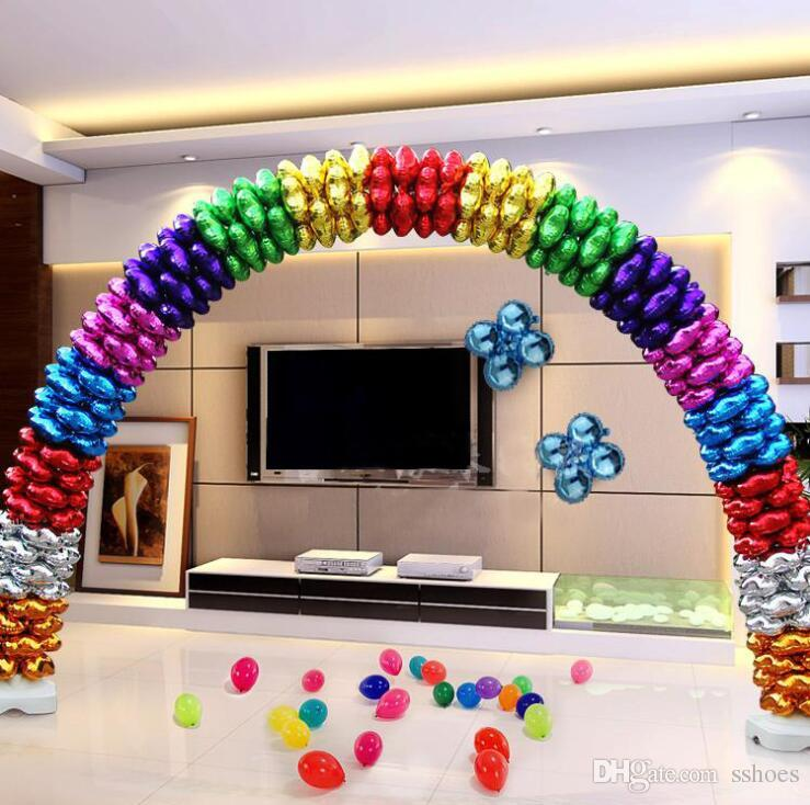 18 inch Colorful Wedding Decoration Heart balloons Birthday Xmas Party Decor Column Arch Four Leaf Balloon