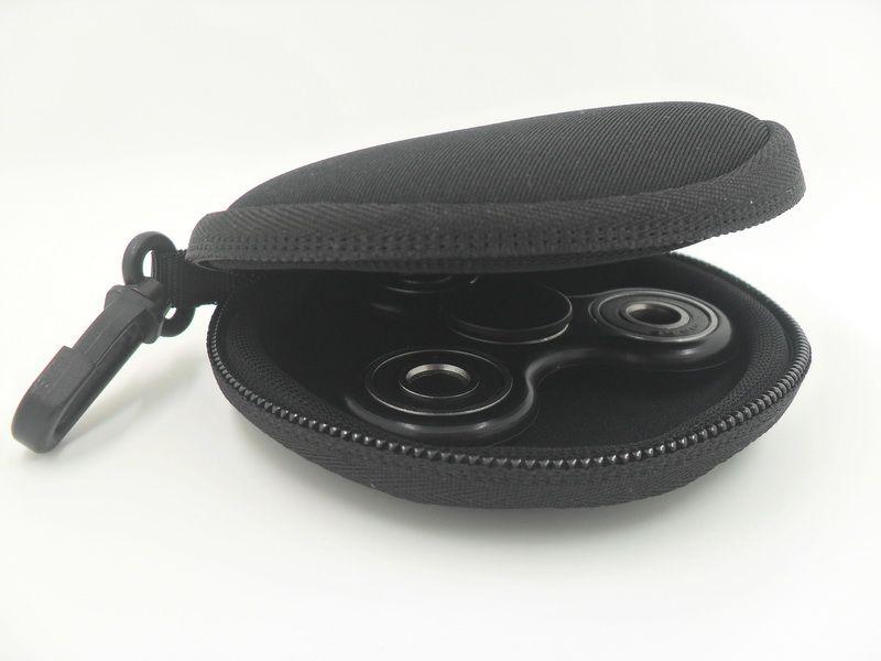 Neoprene Caso Para Fidget Mão Spinner Triângulo Dedo Brinquedo Foco ADHD Autismo Bag Box Carry Caso Pacote com gancho