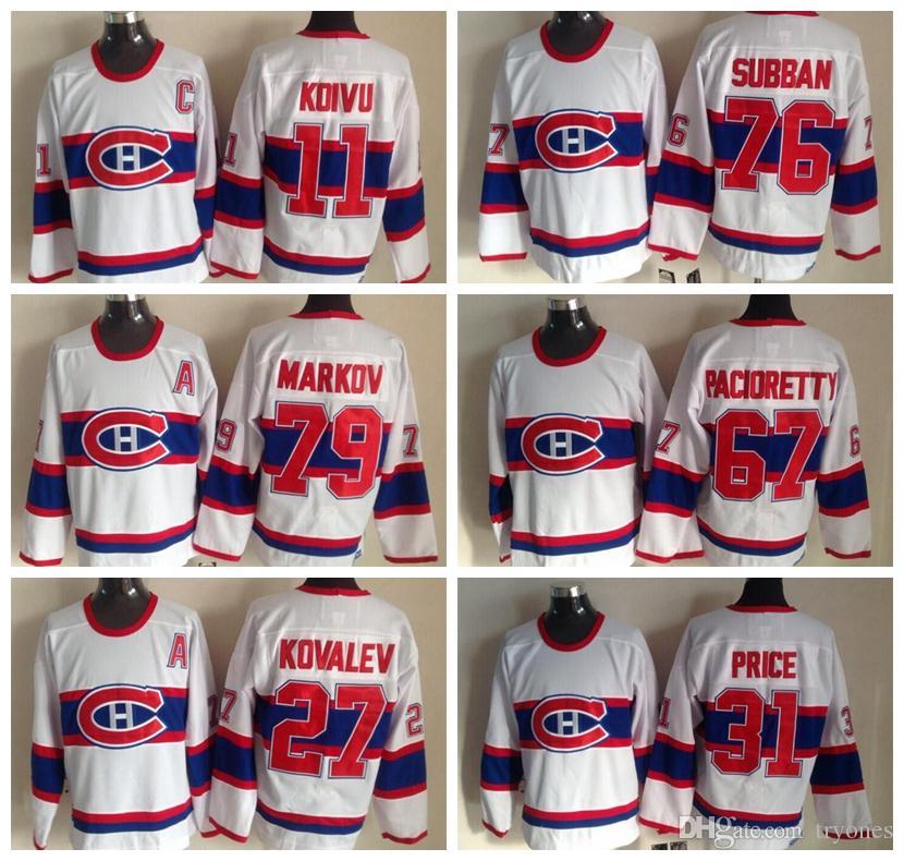 b22c19a7f84 ... top quality 2017 throwback montreal canadiens hockey jerseys 1946 ccm 31  carey price 67 max pacioretty
