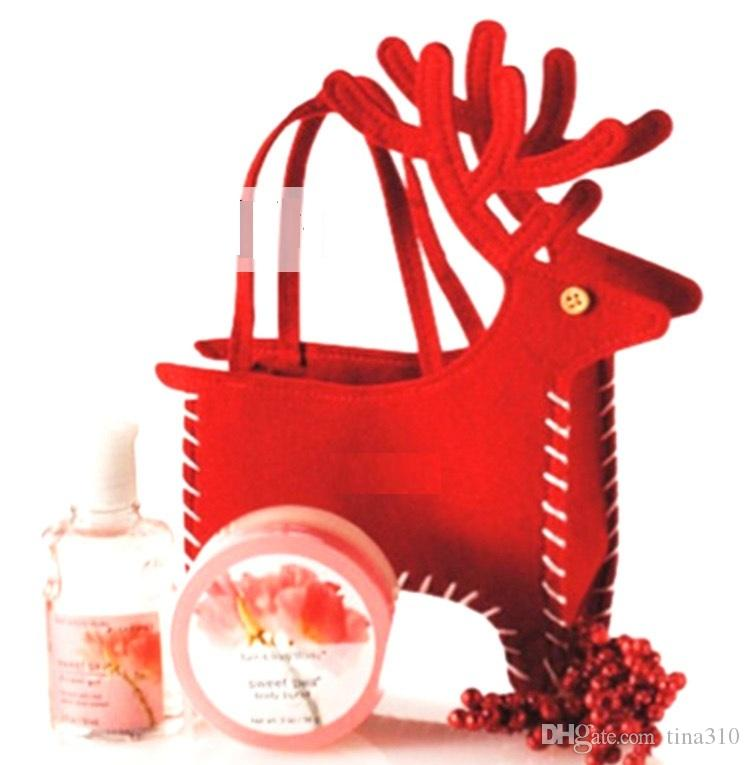 Hot Sale Christmas Deer Candy Box Christmas Decoration Christmas Candy Bags Lovely Gifts Stocking For Children free shipping B0889