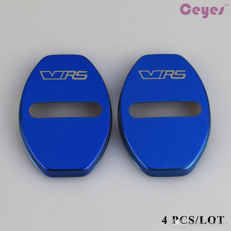 Stainless Steel Car-Styling Door lock Cover Car Sticker Fit For VRS Skoda Octavia A7 Fabia Citigo Rapid Superb Car Styling