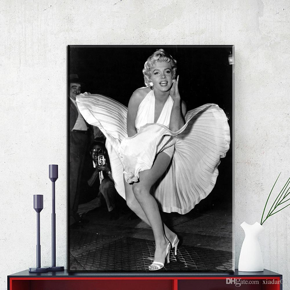 ZZ1123 black and white modern decorative Canvas Art Marilyn Monroe Canvas Wall Art Painting Decoration For Home Abstract Figure