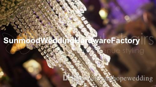 100cm ارتفاع أكريليك المركزية الزفاف زهرة زهرية للزينة الكلمة الزفاف