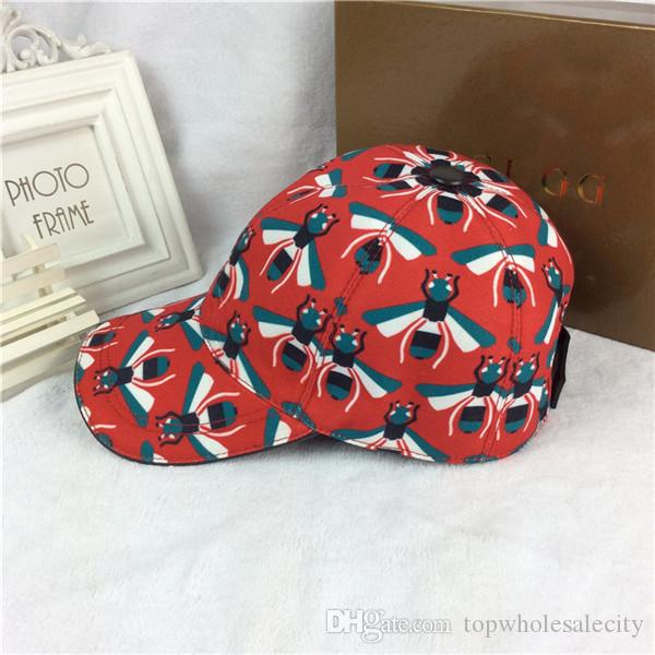 1e7041fe133 2018 New Style Red Caps Fashion Bee Sun Hat Luxury Brand High ...