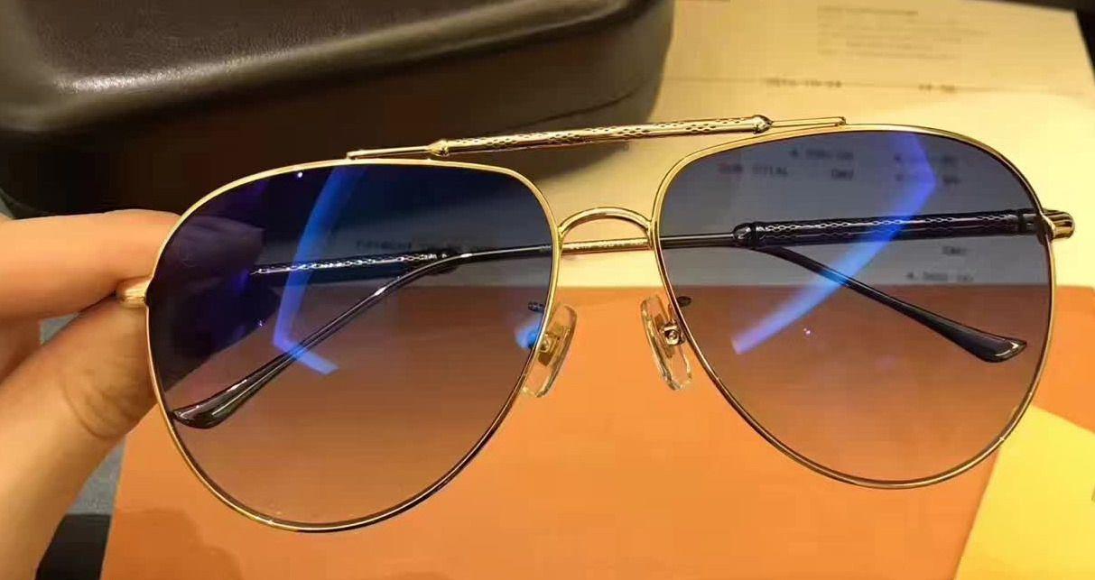 8408b5e7076 Design Women Men Pilot Sunglasses Metal Gold Blue Designer Sunglasses  Glasses Fast Delivery Brand New With Case Cheap Designer Sunglasses  Sunglasses From ...