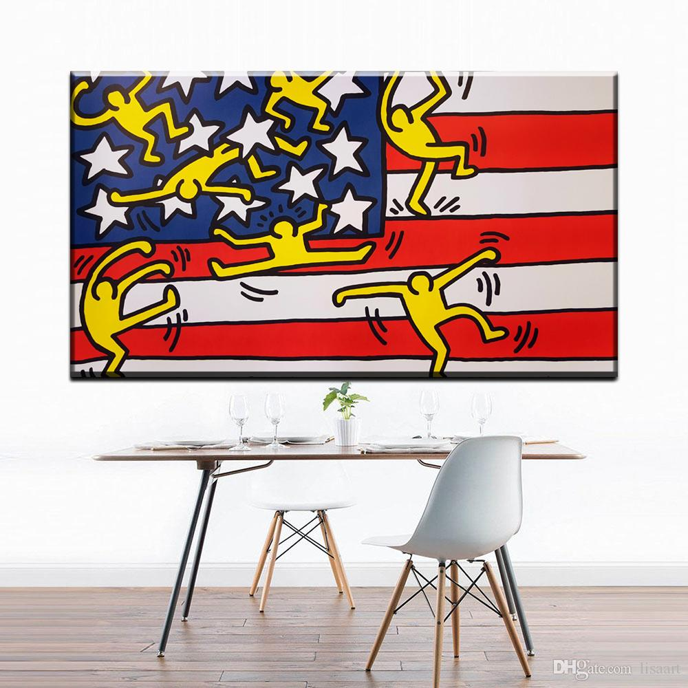ZZ1394 abstract decorative canvas art keith haring abstract oil art painting on canvas for home decoration unframed canvas print