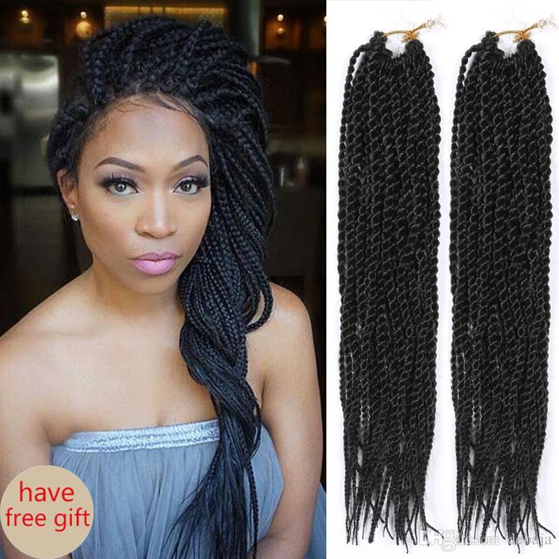 Havana Mambo Twist Crochet Braids Hair 14 Long Black Synthetic