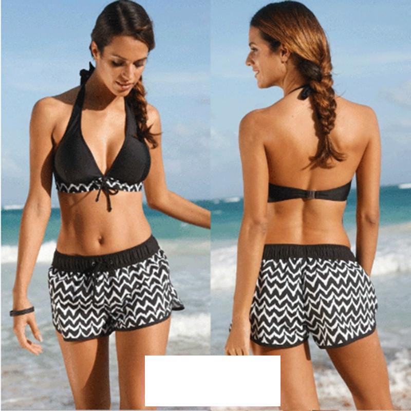 Best Women Swimsuit Female Swimming Suit Push Up Bikini Halter+Short Pants Plus Size S 5xl Suits Swimwear For Women Yc969511 Under $21.56 | Dhgate.Com  sc 1 st  DHgate.com & Best Women Swimsuit Female Swimming Suit Push Up Bikini Halter+Short ...