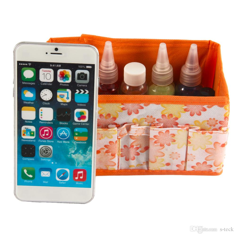 Multiple Use Floret Printing Desktop Storage Folding Cosmetic Box Make Up Bag Tidy Storage Tool Cases