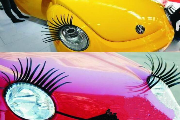 2018 High Quality Charming Eyelash Stickers Stick For Cars Black