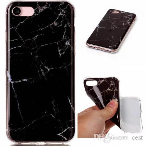 2017 Fashion Stone Marble Rock Grain Custodia rigida TPU IMD Galaxy S8 / Edge / S7 / Edge / S6 / Grand Prime G530 / J5 / 7/3 J310 / 510/710 / S5 Gel Covers Skin