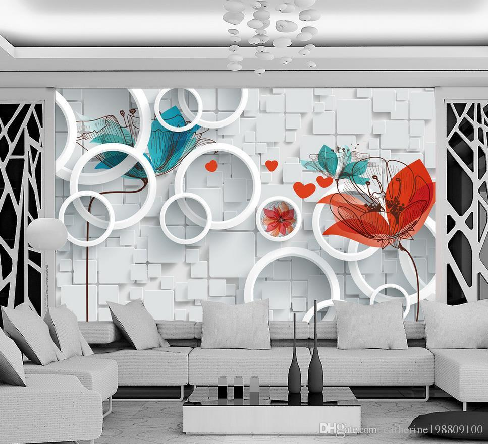 Custom Any Size Hand Painted Abstract Floral 3d Background Wall Mural 3d  Wallpaper 3d Wall Papers For Tv Backdrop 3d Wallpaper 3d Wallpapers From ... Part 19