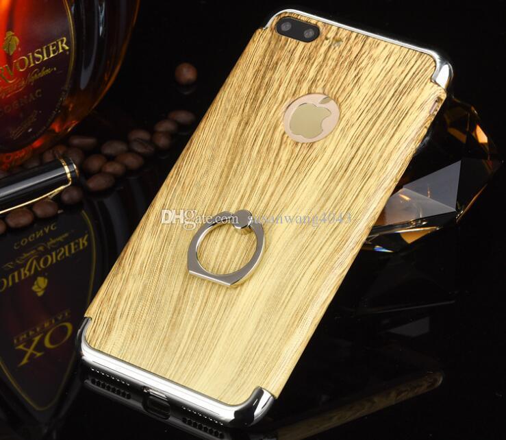 caja del teléfono del anillo de dedo para iphone 7 6 6s más PC dura Electrochape 3 piezas en 1 funda de protección DHL libre GSZ257