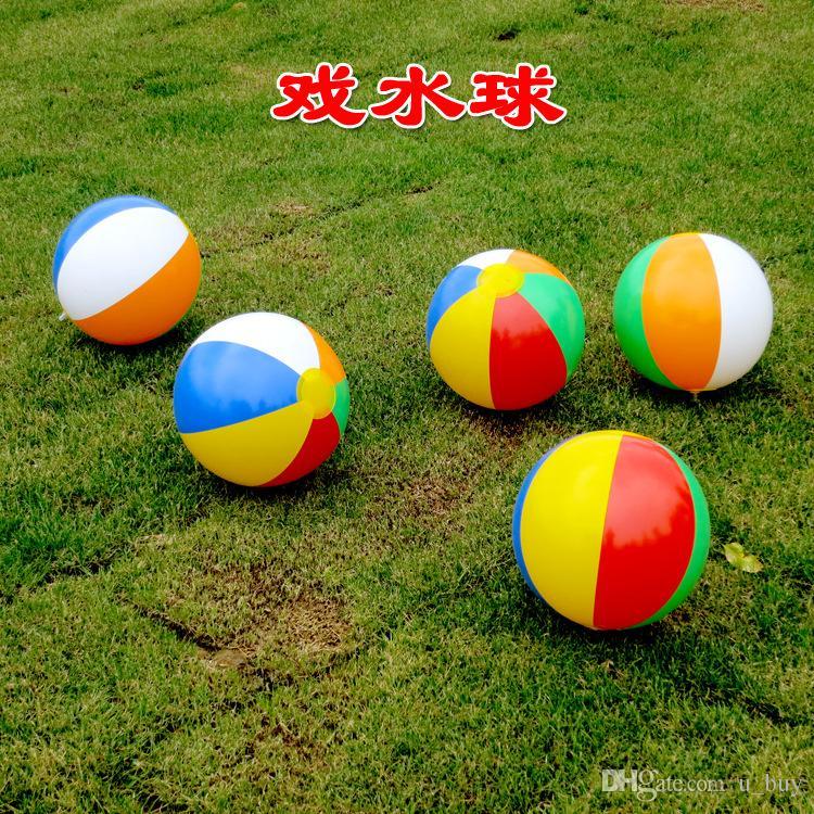 23 cm ballon de plage gonflable multicolore en plein air plage ballon sports nautiques ballon eau jouets meilleurs jouets d'été pour enfants