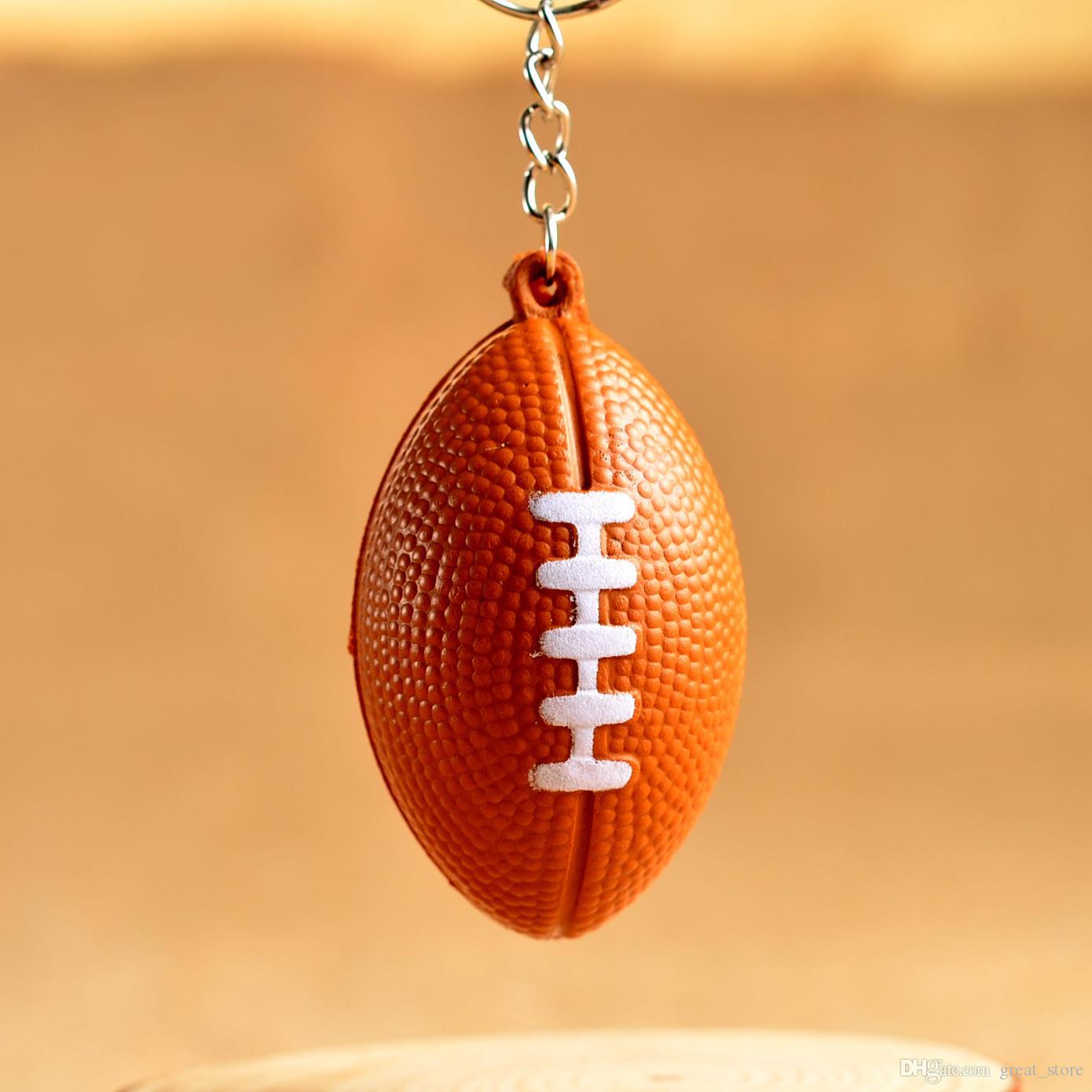 Livraison gratuite [logo OEM] jouets en mousse de boule de jouets PU chaîne clés de football KR177 Porte-clés pour mélanger 20 pièces par