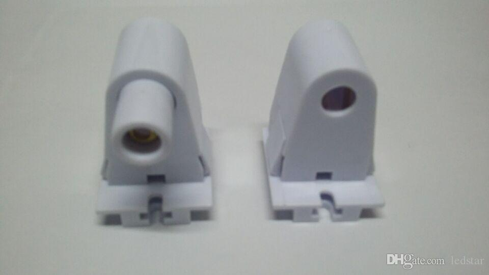 Endverbinder FA8 Halter T8 LED Leuchtstoffröhre Lampe Einpinsockel Ein federbelastetes festes nicht federndes Ende montieren