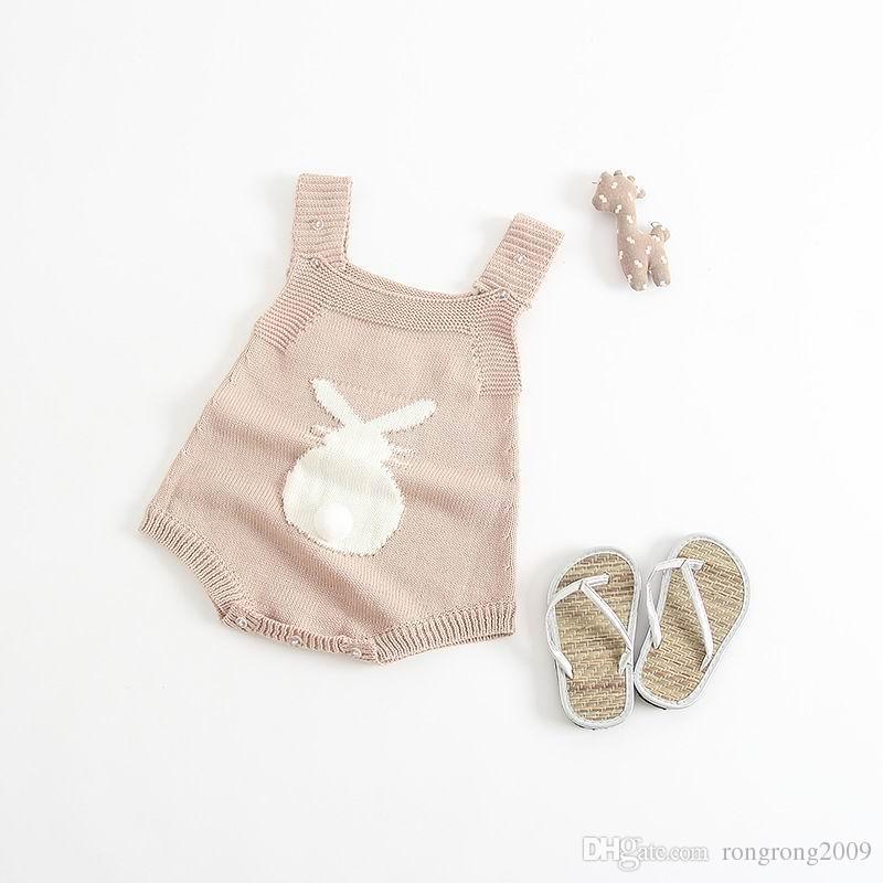 Großhandel Baby-Kaninchen-Strampler Frühlings-Herbst-Baby-Strick Overalls Häschen-Baby-Overall-Kleinkind-Baby-Jungen-Kleidung EG006