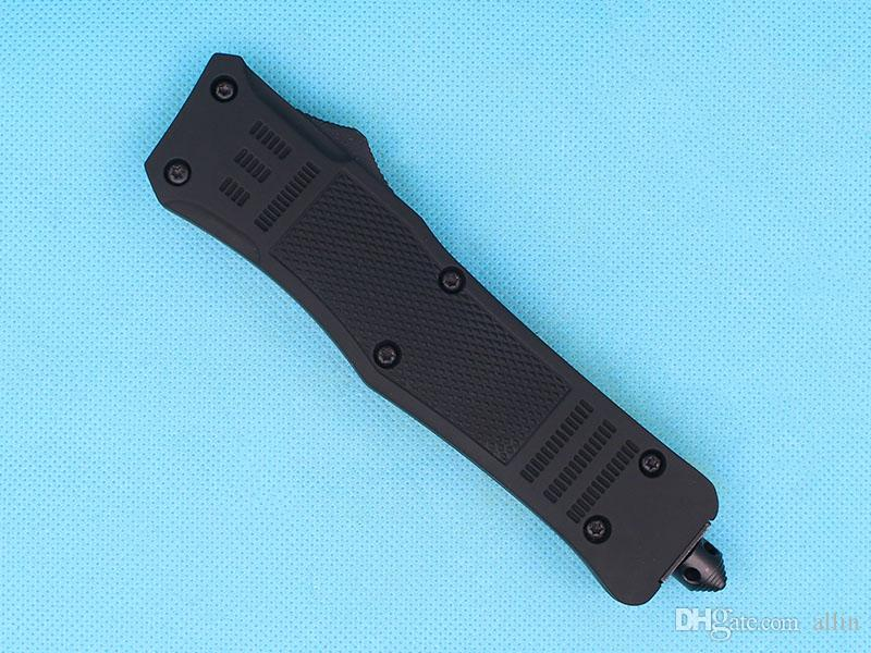 Promotion Large Size 616 Auto Tactial Knife 440C Double Action Fine Titanium Blade Outdoor Survival Tactical Gearz EDC Gear