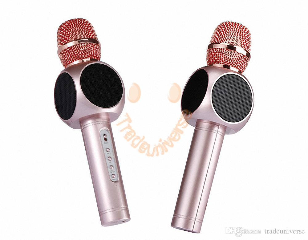 High Quality E103 Karaoke Microphone Wireless Microphone Mini Portable Wireless Bluetooth Microphone Speaker For PC Smartphones