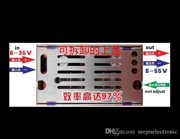 DC DC دفعة محول 6-35V إلى 7-55V 200W Max Step-Up الجهد قابل للتعديل وحدة