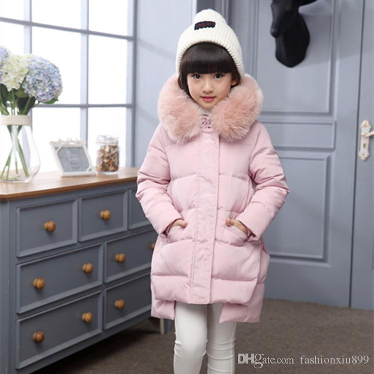 2017 Fashion Girl Winter Down Jackets Children Coats Warm Baby 100 ...