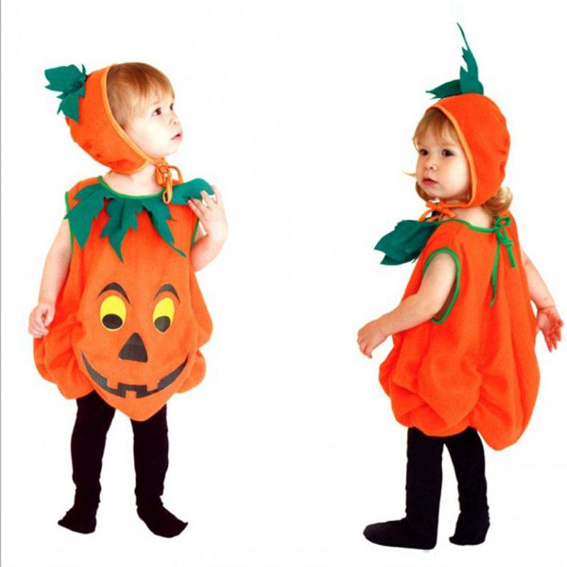halloween costume kids pumpkin outfit clothes for 3 to 10 years old children girl halloween party jumpsuits hat child costumes group halloween themes from