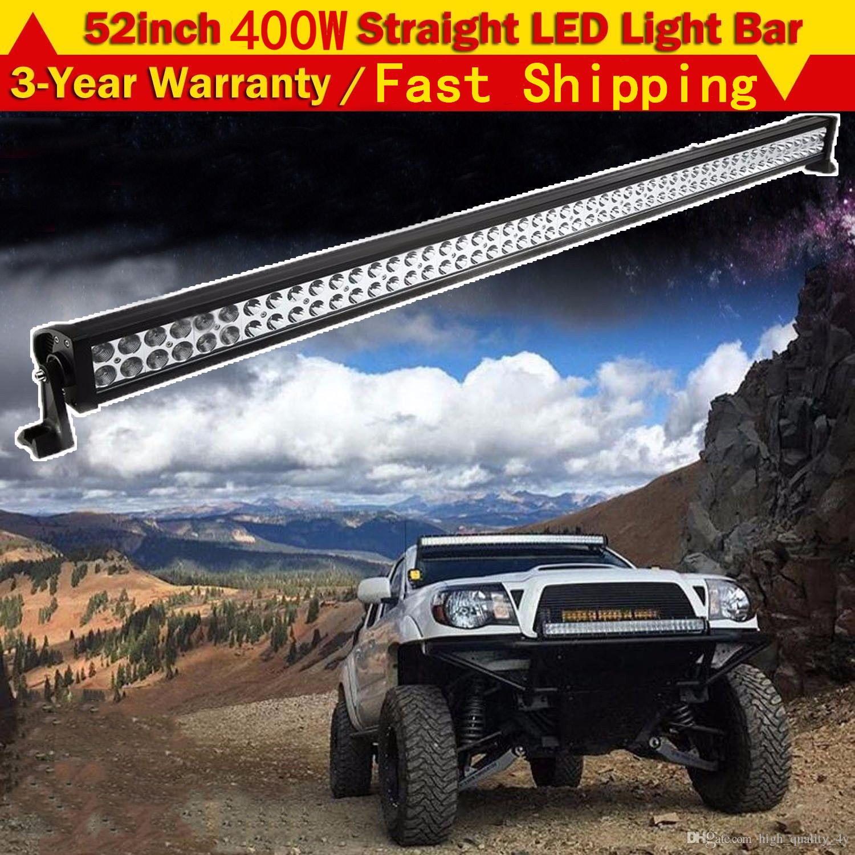 52 Super Bright 400W LED Work Light Bar Fog Roof Driving Lamp DC