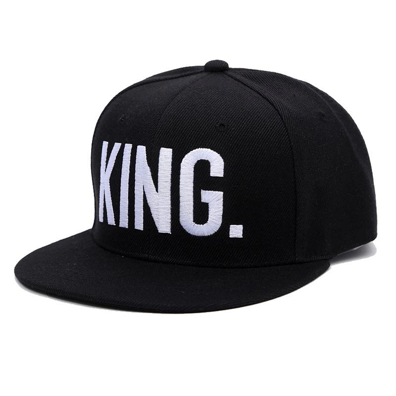 daf09864986 Hot Selling King Queen Letter Embroidery Baseball Cap Couples Hip ...