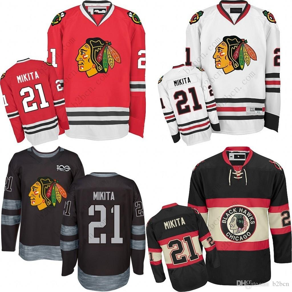 ... closeout 2018 2017 mens chicago blackhawks 21 stan mikita 2017 winter  classic premier red white away 66d0cd9a8