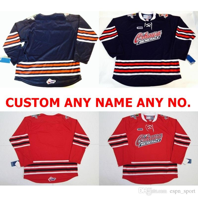 3d0c20425df 2019 2016 2017 New Customize OHL Oshawa Generals Jersey Mens Womens Kids  Blue Red Personalized Stitched Any Name NO.Ice Hockey Jerseys Goalit Cut  From ...