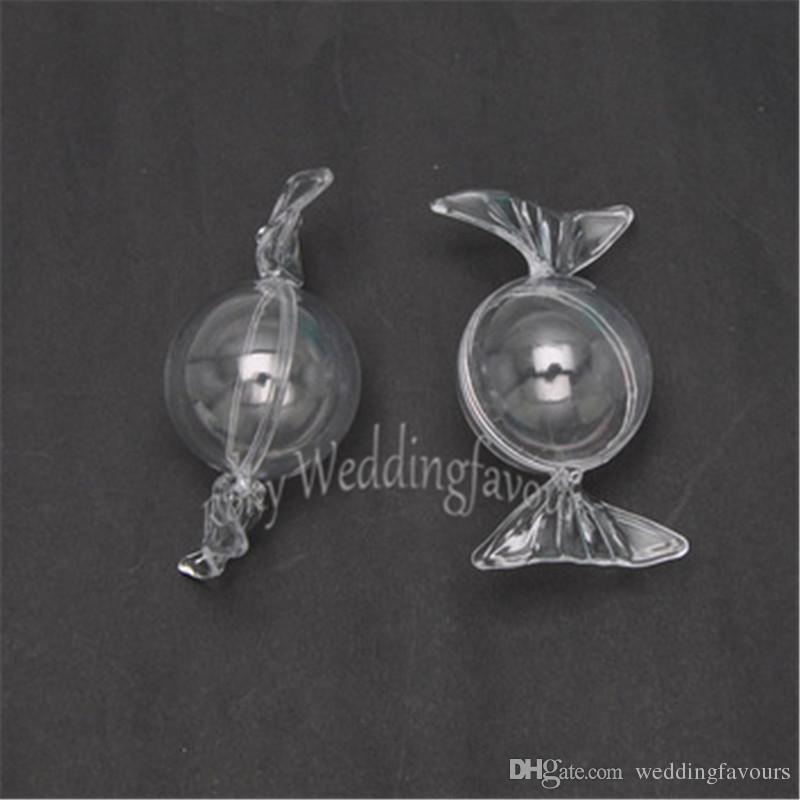 Livraison Gratuite 50 pcs Creative Doux Transparent Boîte En Plastique Boîte De Bonbons De Mariage Clear Candy Holder Baby Shower Favors et Cadeaux De Mariage