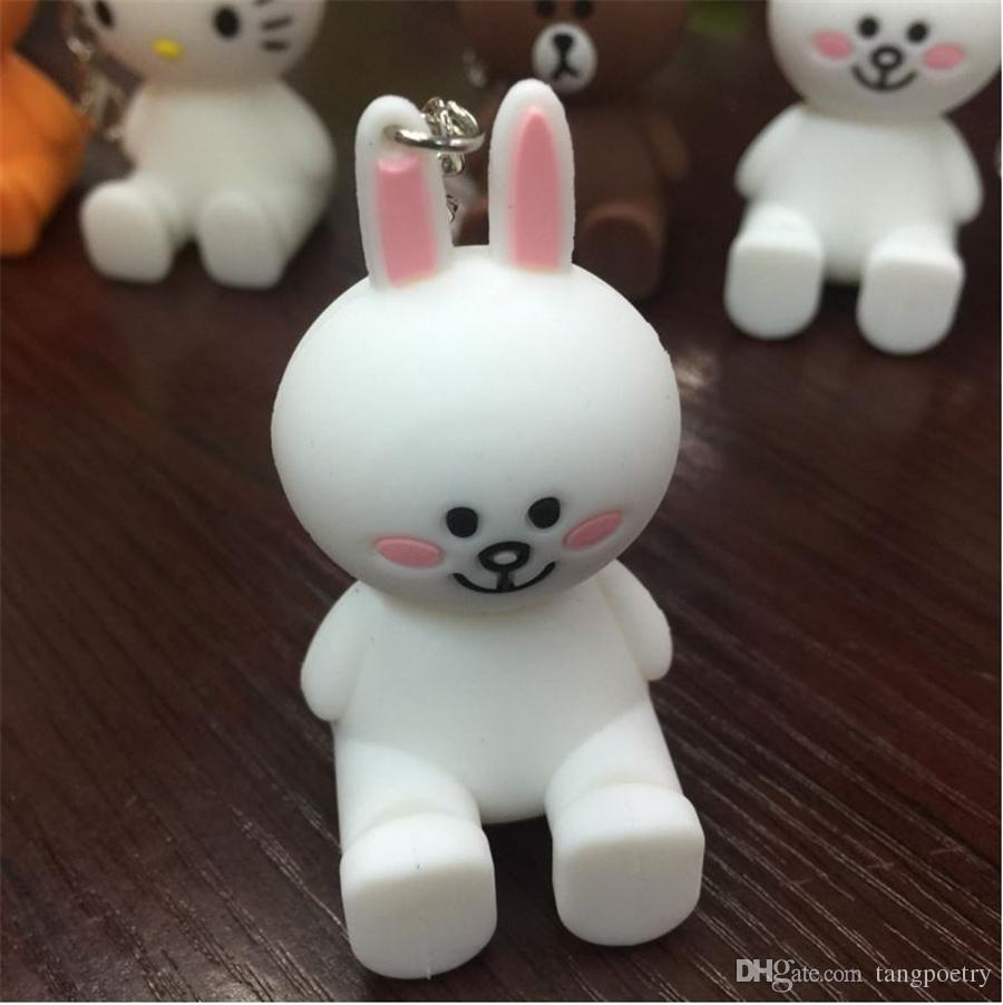 3D Cute Cartoon doll Cases Silicone Stand Holder for Smart Phone Rubber POP Cartoon for iPhone samsung huawei 5 5s 6s 7 Plus DHL