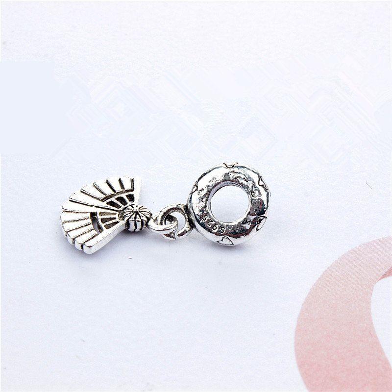 Fan Dangle Alloy Charm Bead Fashion Women Jewelry Stunning European Style For DIY Bracelet Bangle Necklace