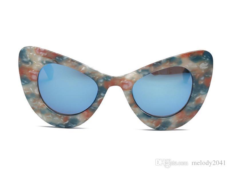 b9ab599604 Fashion Cat Eye Women Sunglasses Big Frame Cool Cateye Frame Printing Cheap  Wholesale Eyewear Best Sunglasses Dragon Sunglasses From Melody2041
