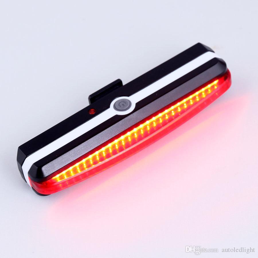 Lighting USB Rechargeable led Bike Light Super Bright 370 Lumens Front Tail Lights set