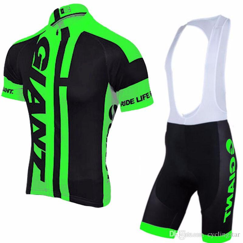 New Pro team giant Mens Cycling Clothing Ropa Ciclismo Cycling Jersey Cycling Clothes short sleeve shirt +Bike bib Shorts set C0134