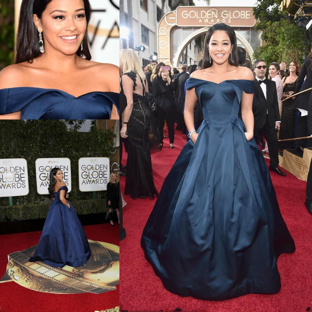2019 year looks- Blue Navy dress on red carpet pictures