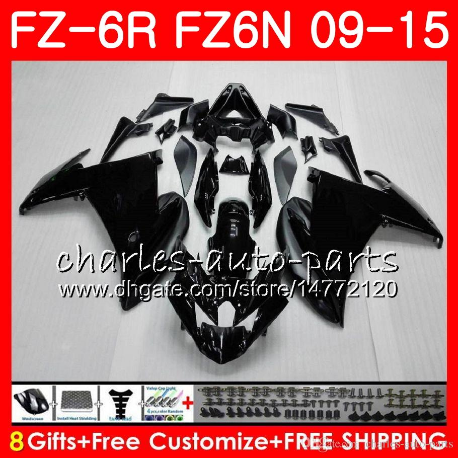 Corps Pour YAMAHA FZ6N FZ6 R FZ-6N FZ6R 09 10 11 12 13 14 15 Noir mat 82HM8 FZ-6R FZ 6N FZ 6R 2009 2010 2011 2012 2013 2014 2015 Carénage