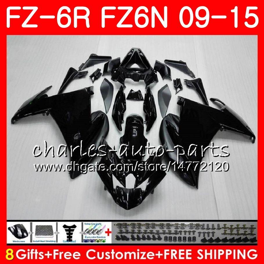 Cuerpo para YAMAHA FZ6N FZ6 R FZ-6N FZ6R 09 10 11 12 13 14 15 Negro mate 82HM8 FZ-6R FZ 6N FZ 6R 2009 2010 2011 2012 2013 2014 2015 Fairing