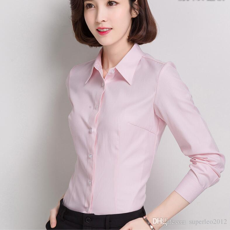 9c22553b03e98 2019 Women S Long Sleeve Blouse And Shirts OL Shirts For Working Women  Solid Formal Office Lady Plus Sizes Career Business Blouse From  Superleo2012