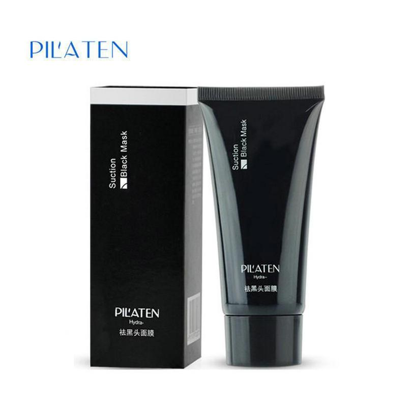 wholesale PILATEN Black mask Tearing style Deep Cleansing purifying peel off the Blackhead acne treatment black mud remover 60g