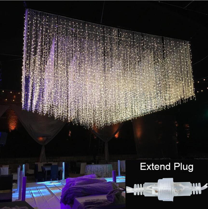 wholesale 3m x 3m waterproof connectable new year led string christmas lights fairy light garland wedding curtain light garden party decor low voltage