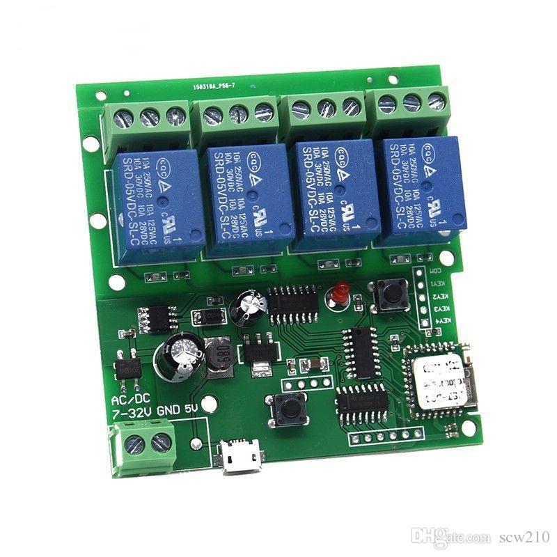 Usb 5v Dc 7 32v 4 Channel Wifi Wireless Switch Inching