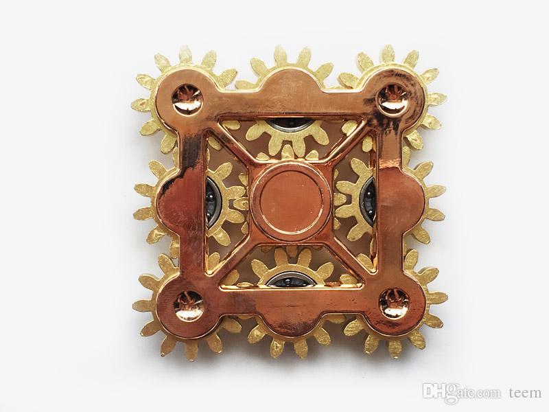 Nove engrenagem Linkage Hand spinner cores 9 dentes engrenagem HandSpinner Fidget Spinners com 9 rodas Top Finger Gyro Decompression Ansiedade Toy