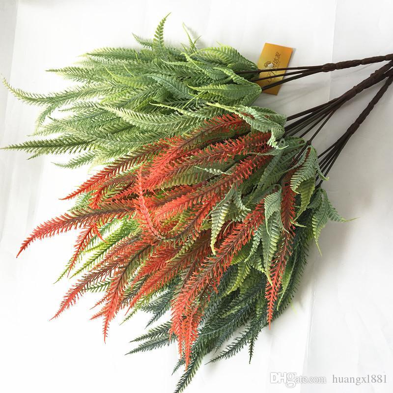 Livraison gratuite simulation vert petite paille herbe plastique plante verte plante artificielle fleur accessoires fleurs en gros