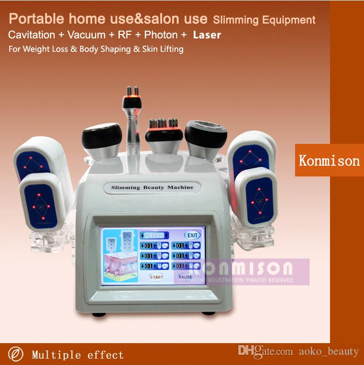 5 en 1 máquina de adelgazamiento con láser Lipo con ultrasonido por vacío de cavitación RF portátil para uso en el hogar o uso de salón para adelgazar