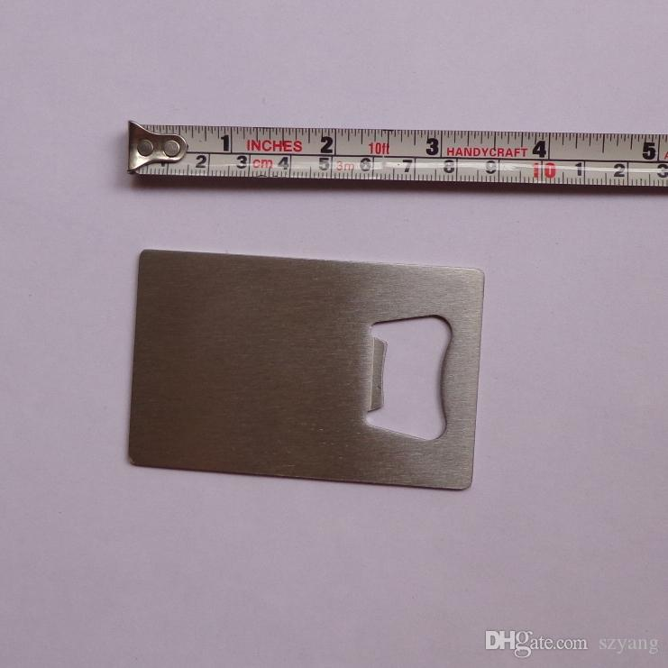 Fast DHL Free Personalized Credit Card Sized Bottle Opener Custom Company Logo Engraved / Printed Metal Business Card Bottle Opener