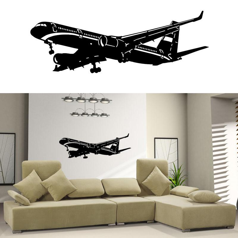 Home Decor Vinyl Wall Decal Sticker Plane Air Boing Airbus